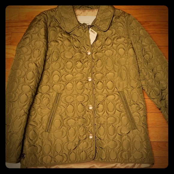 Coach Jackets & Blazers - NEW Coach SIGNATURE C QUILTED HACKING JACKET